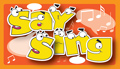 Say sing game card